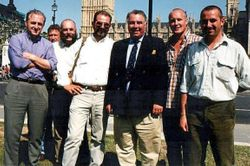 Terriermen who'd travelled to London to lobby their MPs.