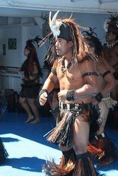 Polynesian dancer on Aranui 3