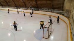 Girls defending their net