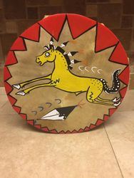 Stallion horse hide drum 12""