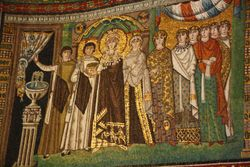 Queen Theodora panel  in Basilica San Vitale in Ravenna
