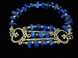 09-00314 Lapis Nugget Stretch Bracelet