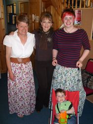 Marita, Mary Duff, Karen Neary& son Jacob in Dundalk FM.