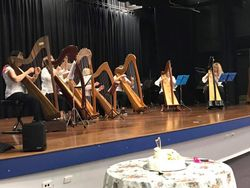 HSQ Harp Ensemble Perform