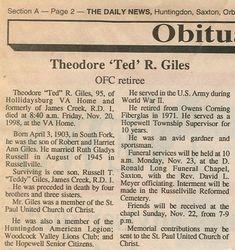 Giles, Theodore R. 1998