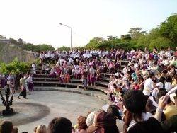 Kecak Dance Spectators