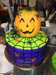 Halloween Jack O Lantern Cake