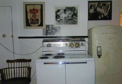 Appliances from the 1950's decorated