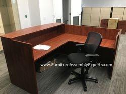 Reception desk installation service in Washington DC