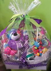 Bright Child's Basket Wrapped