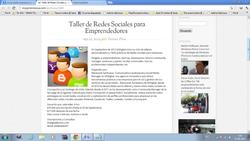 taller redes sociales empresas y emprendedores