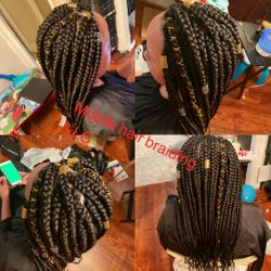 Jumbo Box Braids completed in Washington, DC