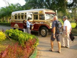 Yangon - our wonderful bus!