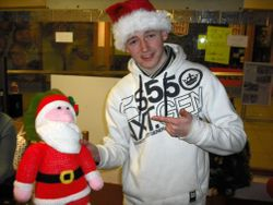 Niall with mini Santa