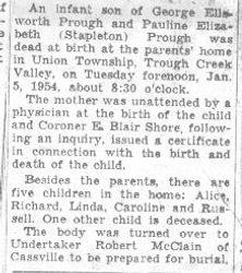 Prough, Infant 1954