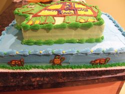 Two Tier Turtle Cake (View 2)