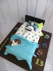13th Birthday Bed Cake