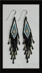 Stacked Bugle Bead & Seed Bead Earrings $30.00