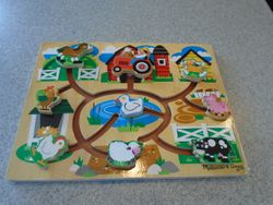 Melissa & Doug Farm Sliding Maze Wooden Puzzle Game - $17