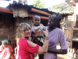 Our Kenyan 'daughter' Cate with her daughter Debra