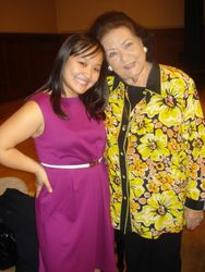 With THE Virginia Zeani after singing in a masterclass for her! What an honor!