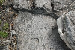 Stone carvings of ship-wrecked sailors