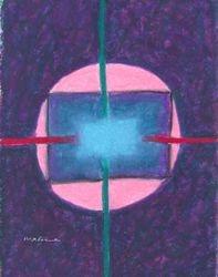 Not Easily Disturbed Mandala, Oil Pastel, 11x14, Original Sold