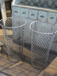 #14/113 2 Tall Wire Baskets SOLD