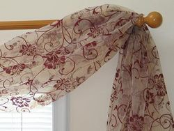 Fleur Flocking Sheer 6-yard Scarf Valance (Item # SF420-68-56)