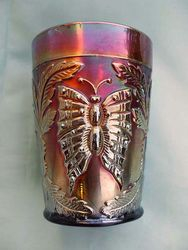 Butterfly and Fern tumbler in amethyst