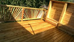 Custom Cedar Deck with Sunburst Railing