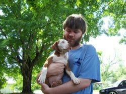 Matt and puppy