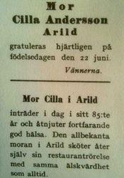 Mor Cillas hotell 1911