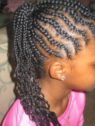 CORN ROW EXTENSIONS WITH KANEKOLAN HAIR