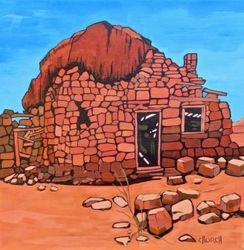 Navajo House Build Under a Bolder