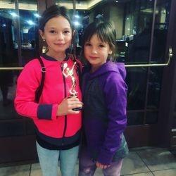 Evelina 3rd place Girls 10s Orange
