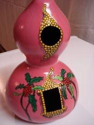 Decorated inside birdhouse
