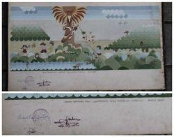 Eskizas, 1985 m. Sieninis tapybinis pano vaiku darzeliui-lopseliui. Kaina 67