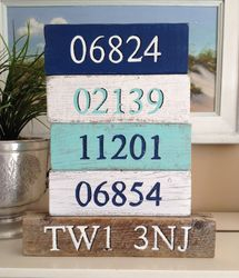 Set of zip code blocks