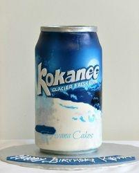 Kokanee Can Beer cake