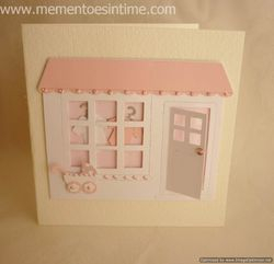 New Baby Girl Shop Card