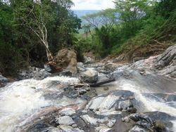 Flood damage at main water source intake