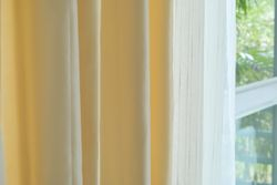 Luxury Fine  Ivory Silk Satin Blackout Curtains Panel Pinch Pleat 25W X 96L