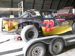 Here's the 72 car after a rough night at the track on 5/10/12