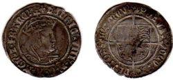 Henry VIII, 1526-1544, England, Groat