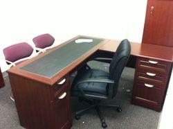 Bush L shaped desk installation service in Baltimore MD