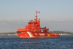 The rescue boat in Pobra