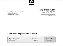Lakewood Mech license