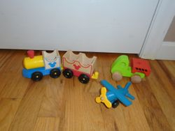 Wooden Vehicles- Train, Truck & Plane - $10