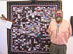 Mike Zabriske with His Quilt